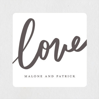 Sparkling Love Engagement Party Favor Stickers