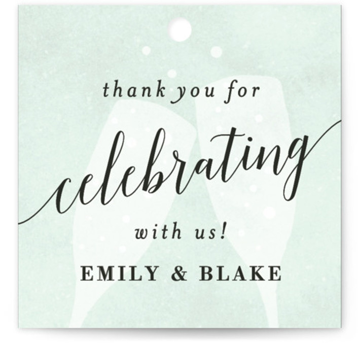 This is a blue, rosegold Wedding Favor Tags by Kelly Schmidt called Sip Sip Hooray with Standard printing on Signature in Tag Flat Card format. Add the perfect finishing touch to all of your wedding gifts with these chic and ...