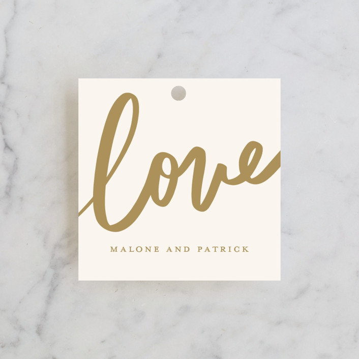 """""""Sparkling Love"""" - Engagement Party Favor Tags in Blush by Faith Dorn."""