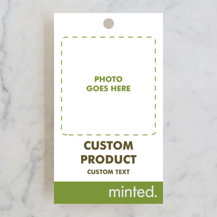 """Portrait"" - Engagement Party Favor Tags in Charcoal by Minted Custom."