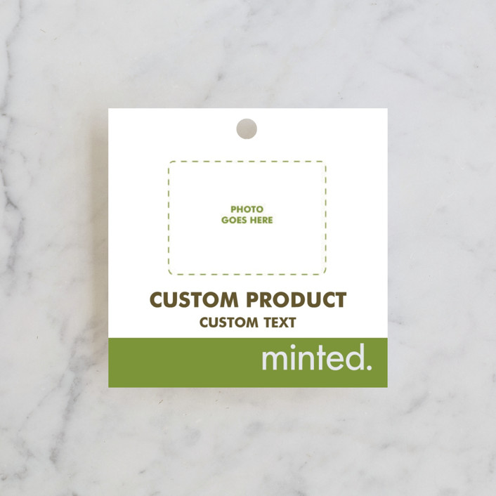 """""""Square"""" - Engagement Party Favor Tags in Charcoal by Minted Custom."""