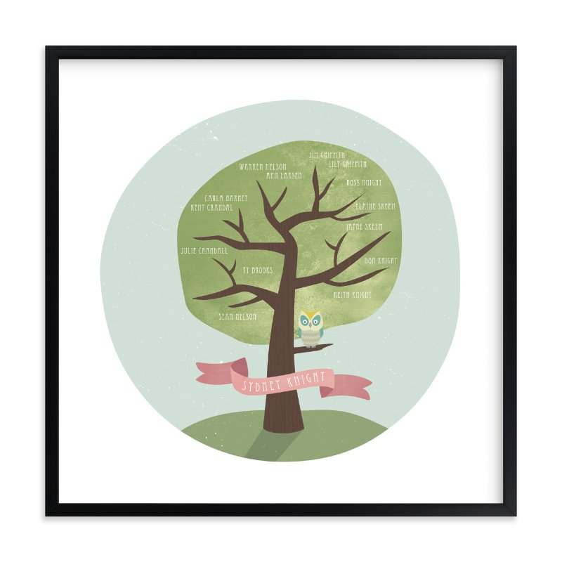 """""""Remember Who You Are"""" - Family Tree Custom Art Print by Shasta Knight in beautiful frame options and a variety of sizes."""