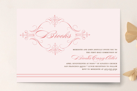 French Vintage First Communion Invitations