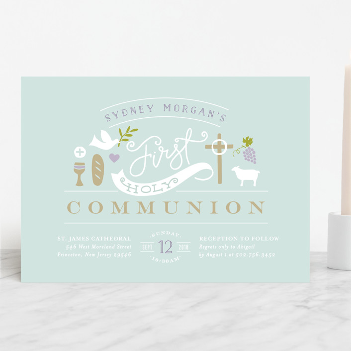 """Icons of Faith"" - First Communion Invitations in Clearwater by Jennifer Wick."