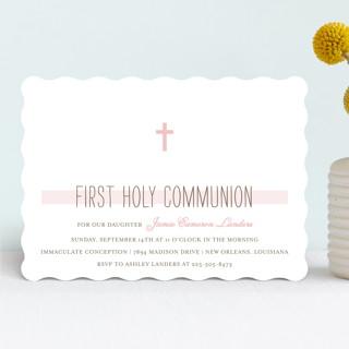 Simple Communion First Communion Invitations