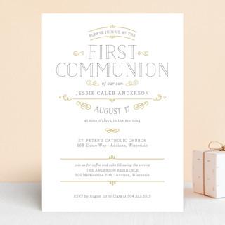 Delicate First Communion Invitations