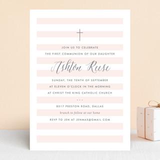 Sleek First Communion Invitations