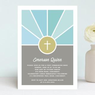 Window First Communion Invitations