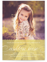 Sweet Scallop First Communion Invitations