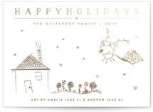 This is a gold completely custom card by Carolyn MacLaren called Height of Happiness with foil-pressed printing on signature in standard.