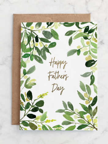 Father's Day Watercolor Greenery