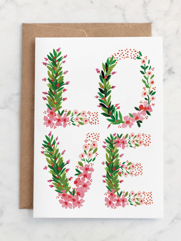 Love Floral Letters
