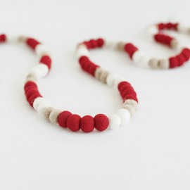 This is a brown holiday garland by Minted called Peppermint Small.