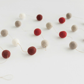 This is a black holiday garland by Minted called Cozy Cabin Large.