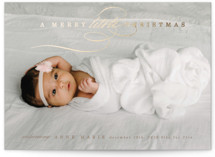 This is a brown babys first christma by Lori Wemple called Having A Merry Little Christmas with foil-pressed printing on smooth signature in standard.
