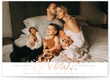 This is a pink babys first christma by Alethea and Ruth called New Adventure Sparkles with foil-pressed printing on smooth signature in standard.