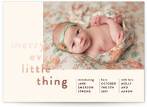 This is a brown babys first christma by The Social Type called Merry Every Little Thing with foil-pressed printing on smooth signature in standard.