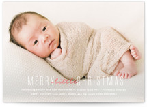 This is a white babys first christma by Ink and Letter called Merry Little Christmas with foil-pressed printing on smooth signature in standard.