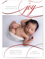 This is a white babys first christma by Emily Betts called Bundle of Joy with foil-pressed printing on smooth signature in standard.