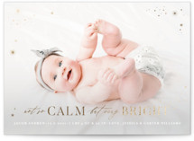 This is a white babys first christma by Monika Drachal called Not So Calm with foil-pressed printing on smooth signature in standard.