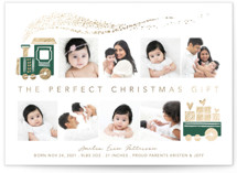 This is a brown babys first christma by Vivian Yiwing called The Perfect Gift with foil-pressed printing on smooth signature in standard.