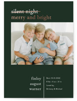 This is a green babys first christma by Pink House Press called Merry Nights with foil-pressed printing on smooth signature in standard.