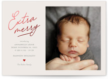 This is a grey babys first christma by Shari Margolin called Extra Merry with foil-pressed printing on smooth signature in standard.