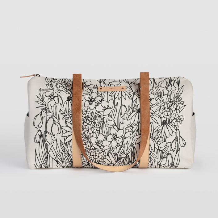 Bohemian Florals Fillmore Duffle, $82
