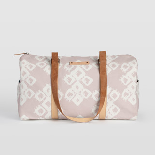 This is a pink duffle bag by Zhay Smith called Marrakech Diamond in standard.