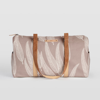 This is a purple duffle bag by Katharine Watson called Sketched Willow in standard.