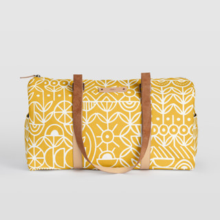 This is a yellow duffle bag by Michelle Taylor called Deconstruct in standard.