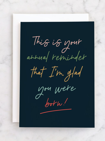 Annual reminder
