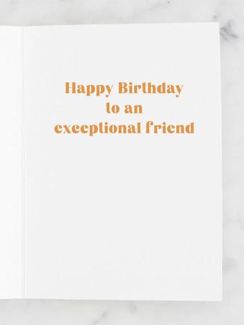 Exceptional friend