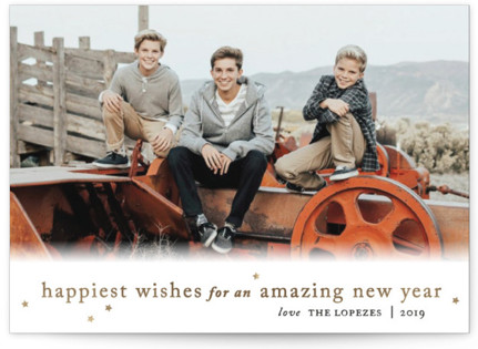 Happiest Wishes to You Foil-pressed Postcard