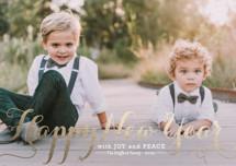 Spirit of Christmas Foil-pressed Postcard By Design Lotus