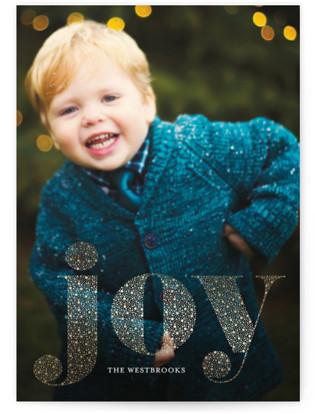 Shimmering Joy Foil-pressed Postcard