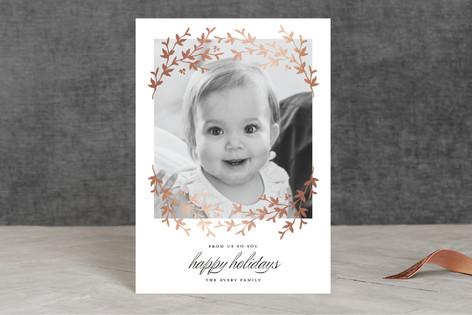 Lovely Laurel Foil-pressed Postcard