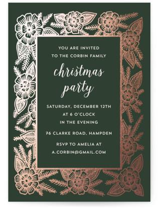Christmas Frame Foil-pressed Party Invitation