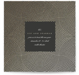 This is a black holiday party invitation by kelli hall called Gleam printing on signature.