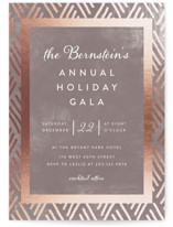 This is a brown holiday party invitation by Jennifer Lew called Grandiose printing on signature.