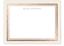 This is a rosegold foil stamped stationery by Carrie ONeal called Gold Notes printing on signature.