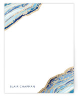 This is a blue foil stamped stationery by Kaydi Bishop called Gilt Agate with foil-pressed printing on signature in standard.