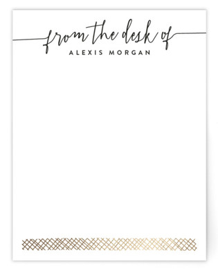 From My Desk To Yours Foil-Pressed Personalized Stationery