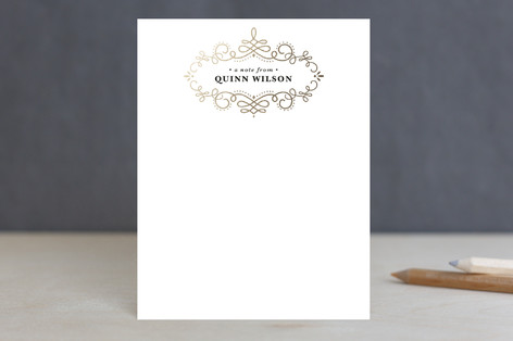 Swirled Foil-Pressed Stationery