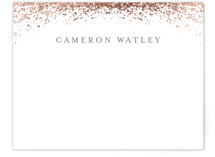 This is a rosegold foil stamped stationery by Lehan Veenker called Sprinkling with foil-pressed printing on signature.