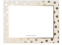 This is a gold foil stamped stationery by Oscar & Emma called Devoted with foil-pressed printing on signature.