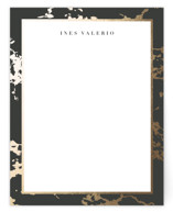This is a gold foil stamped stationery by Sara Hicks Malone called embellished marble printing on signature.