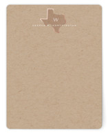 This is a brown foil stamped stationery by fatfatin called A Monogram In Texas with foil-pressed printing on signature.