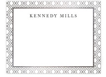 This is a silver foil stamped stationery by Christie Kelly called Gilded Bloom with foil-pressed printing on signature.