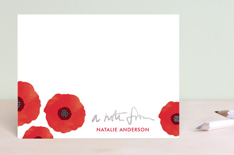 Poppy Talk Foil-Pressed Stationery